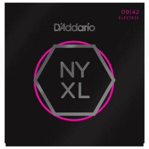 D'Addario© สายกีตาร์ไฟฟ้า เบอร์ 9 แบบนิกเกิล ซีรีย์ NYXL รุ่น NYXL0942 (Super Light, 09-42)