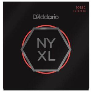 D'Addario© สายกีตาร์ไฟฟ้า เบอร์ 10 Hybird แบบนิกเกิล ซีรีย์ NYXL รุ่น NYXL1052 (Light Top / Heavy Bottom, 10-52)