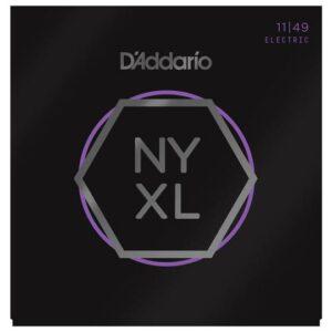 D'Addario© สายกีตาร์ไฟฟ้า เบอร์ 11 แบบนิกเกิล ซีรีย์ NYXL รุ่น NYXL1149 (Medium, 11-49)