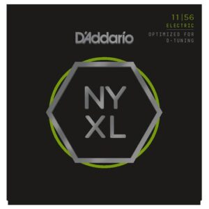 D'Addario© สายกีตาร์ไฟฟ้า เบอร์ 11 เน้นเสียงเบสพิเศษ วัสดุนิกเกิล ซีรีย์ NYXL รุ่น NYXL1156 (Medium Top / Extra Heavy Bottom, 11-56)