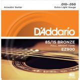 D'Addario© สายกีตาร์โปร่ง เบอร์ 10 แบบ 85/15 Bronze รุ่น EZ900 (Extra Light, 10-50)