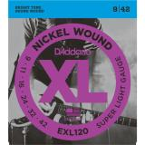 D'Addario© สายกีตาร์ไฟฟ้า เบอร์ 9 แบบนิกเกิล รุ่น EXL120 (Super Light, 9-42)