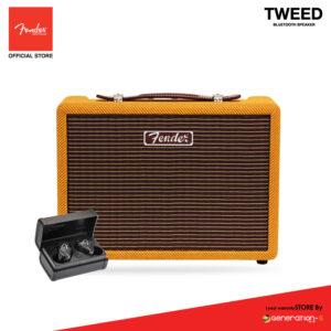 FENDER ลำโพงบลูทูธ Monterey Tweed Bluetooth Speaker – Yellow Mustard [แถมหูฟัง Tour]